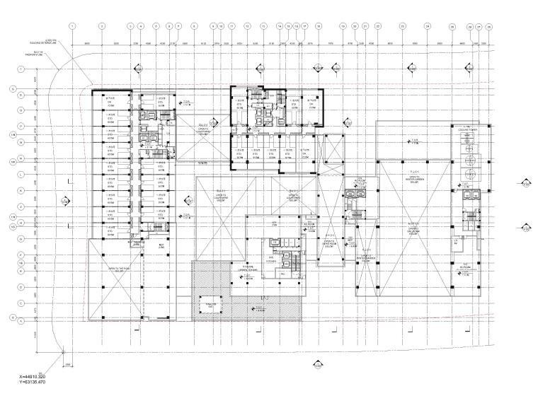 [江苏]苏州五星酒店客房方案+建筑图+效果图-二层平面图