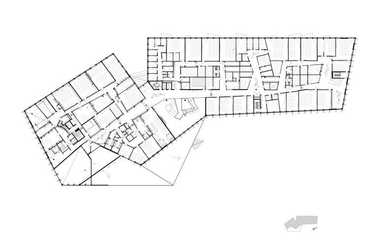 瑞典知识教育中心大厦平面图2