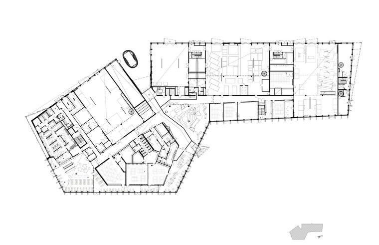 瑞典知识教育中心大厦平面图1