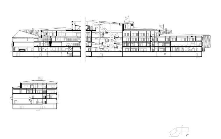 瑞典知识教育中心大厦剖面图