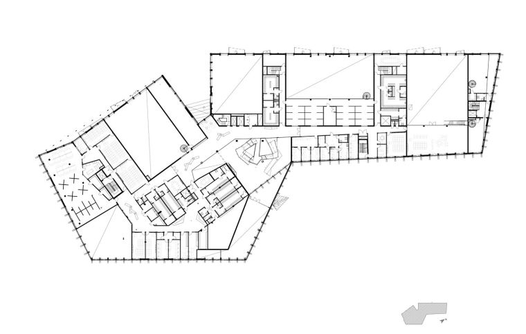 瑞典知识教育中心大厦平面图3