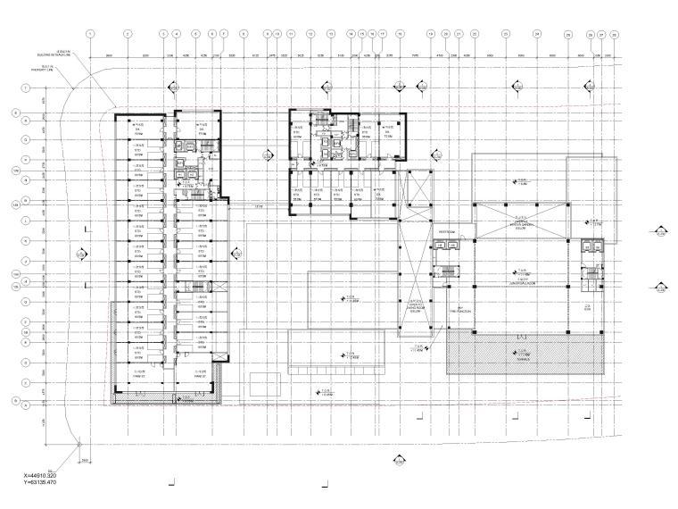 [江苏]苏州五星酒店客房方案+建筑图+效果图-三层平面图