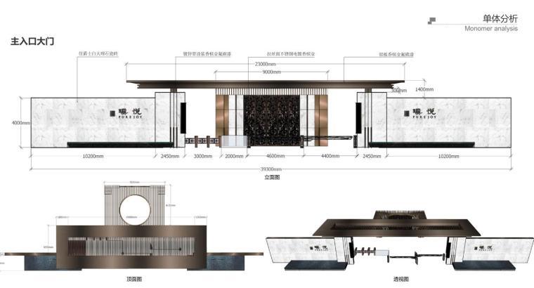 [江苏]宜兴现代中式风格住宅大区景观方案-单体分析