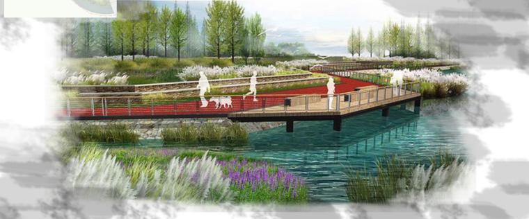 [昆明]当地文化滨河带状公园景观设计方案-云溪湿地效果图