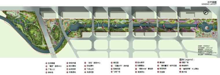 [昆明]当地文化滨河带状公园景观设计方案-总平面图
