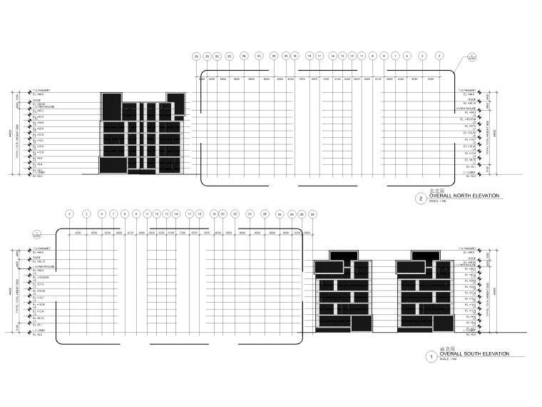 [江苏]苏州五星酒店客房方案+建筑图+效果图-酒店立面图2