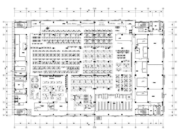 [广东]多层工业厂房电气招标图(含自控)-3工艺设备配电平面图