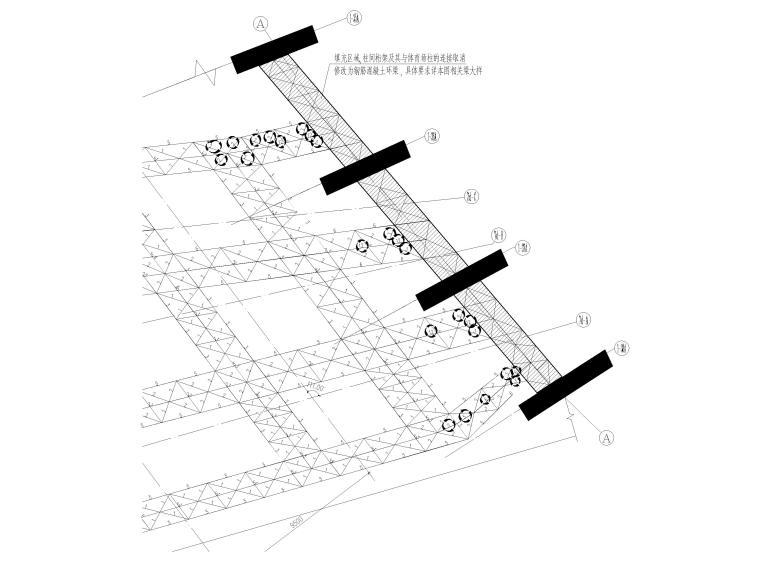 [肇庆]2层体育馆连廊结构竣工图2018-屋面桁架(局部)修改平面图