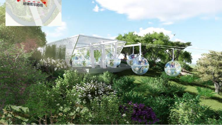 [昆明]当地文化滨河带状公园景观设计方案-玻璃缆车效果图