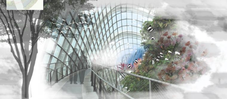 [昆明]当地文化滨河带状公园景观设计方案-飞鸟山谷效果图