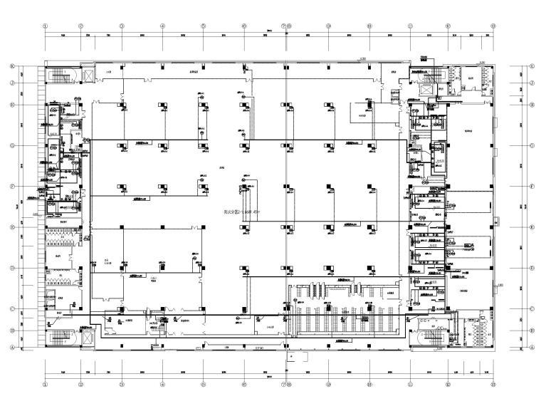 [广东]多层工业厂房电气招标图(含自控)-5自控平面布线图