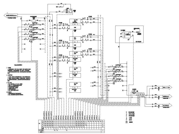 [广东]多层工业厂房电气招标图(含自控)-9冷冻水系统控制原理图