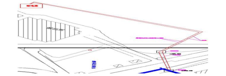 多层框架结构车站施工组织设计(2019)-04 外线布置示意图