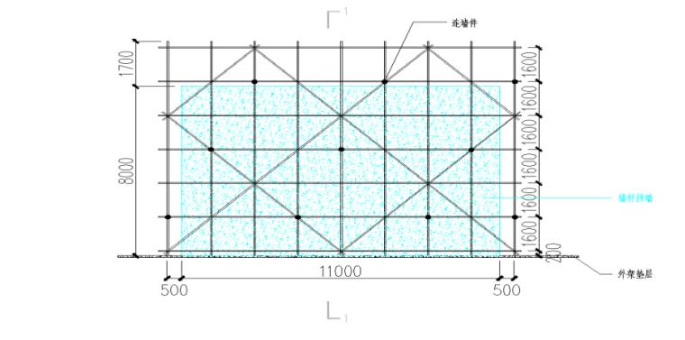多层框架结构车站施工组织设计(2019)-06 边坡脚手架搭设示意图