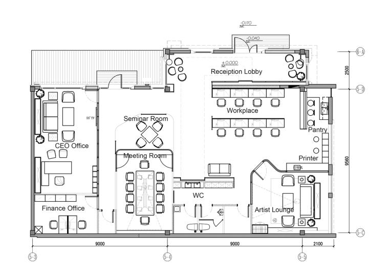 北京幼龙工作室办公楼平面图