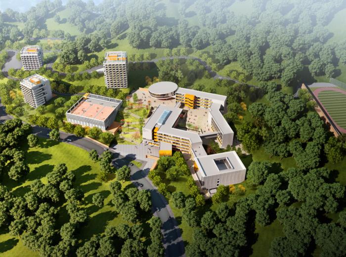 惠州小径湾贝赛思大型国际学校方案文本2016-鸟瞰图