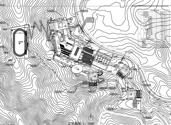 惠州小径湾贝赛思大型国际学校方案文本2016-总平面图