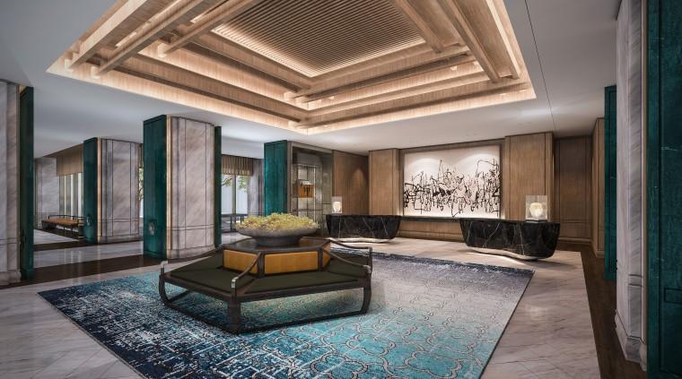 [江苏]苏州五星酒店客房方案+建筑图+效果图-公区 (1)