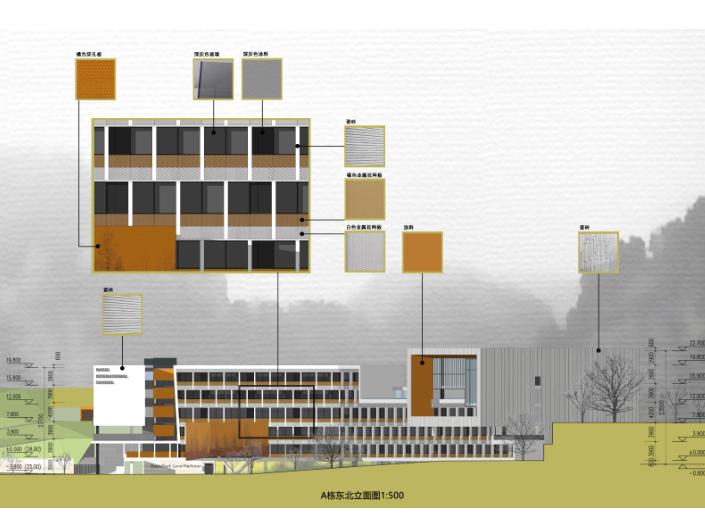 惠州小径湾贝赛思大型国际学校方案文本2016-立面图