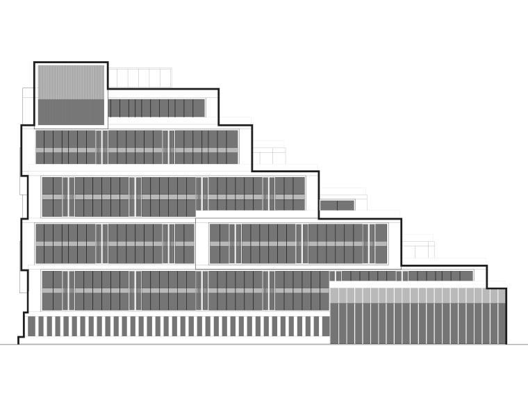 [江苏]苏州五星酒店客房方案+建筑图+效果图-酒店立面图