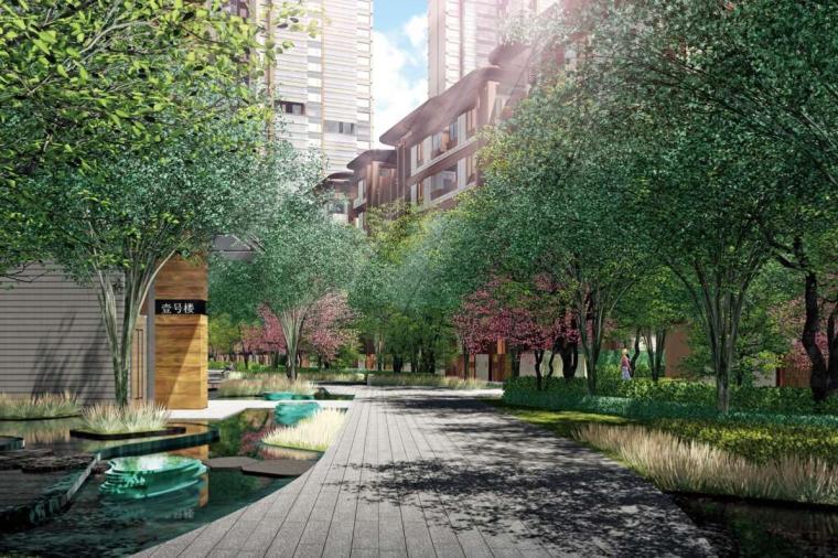 [四川]现代风格高品质住宅大区景观方案设计-现代风格高品质住宅大区景观设计 (1)