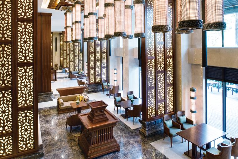 [泰国]西双版纳避寒皇冠假日酒店施工图-Club Floor Lounge