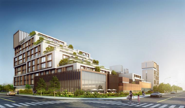 [江苏]苏州五星酒店客房方案+建筑图+效果图-建筑效果图