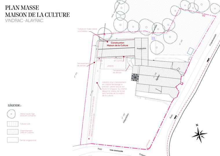 法国Vindrac-Alayrac文化中心平面图