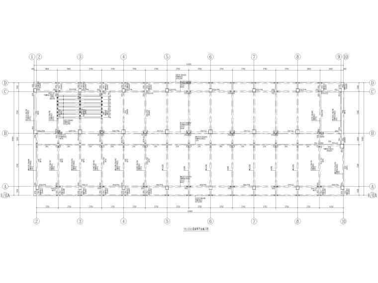 [荆门]5层框架结构员工宿舍楼全套图纸2017-梁平法施工图