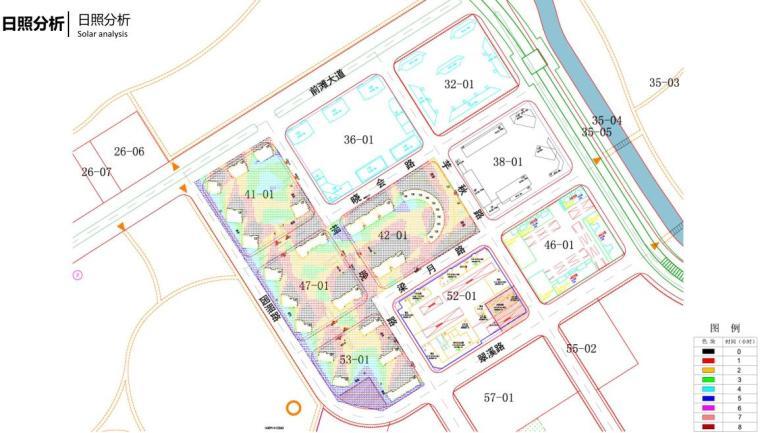 [上海]高端滨江豪宅租赁住宅建筑概念方案-日照分析