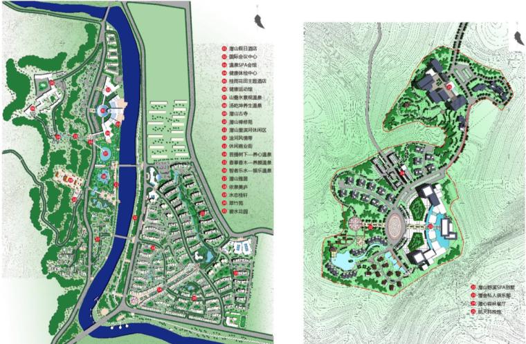 [武汉]滨江温泉旅游休闲度假区景观规划方案-项目布局总体平面图