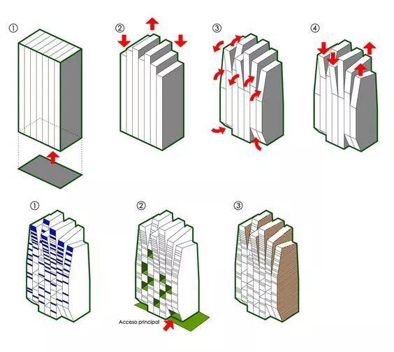 建筑方案推演分析图25例_2