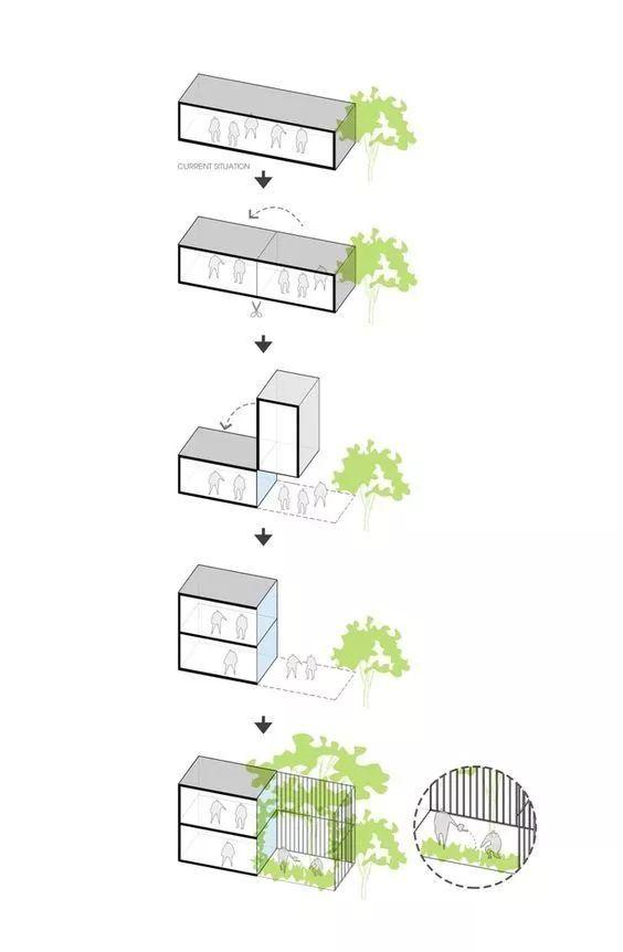 建筑方案推演分析图25例_11