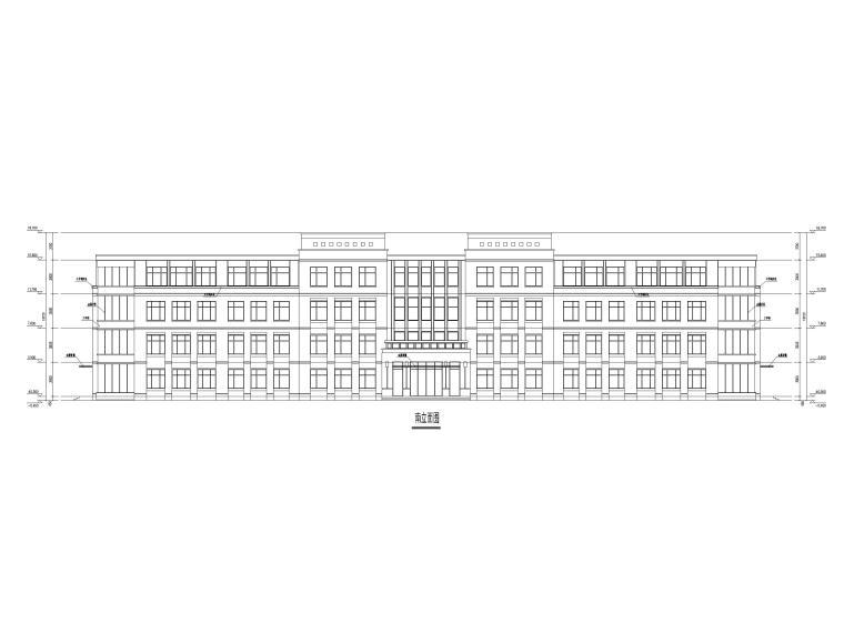[山东]高密埠口小学建筑方案图CAD+效果图-教学楼立面图2