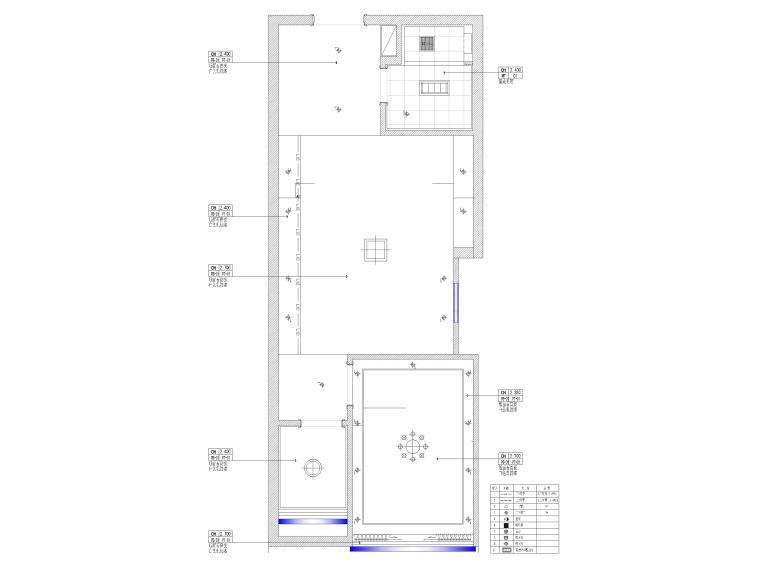 [江苏]38㎡一居室家装样板间装修设计施工图-天花布置图