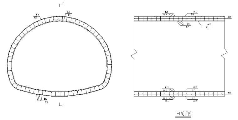 分离式小净距隧道钢筋分项工程开工报道-衬砌隧道钢筋大样图