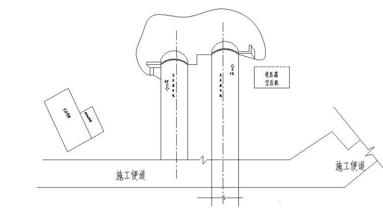 分离式小净距隧道钢筋分项工程开工报道-隧道施工平面布置图