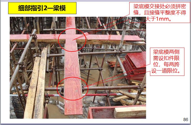 名企模板工程施工指引讲义(187页)-梁模