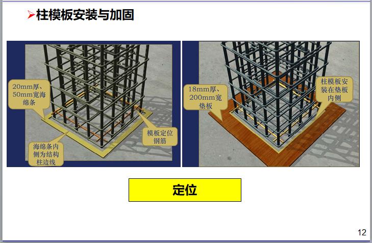 名企模板工程施工指引讲义(187页)-柱模板安装与加固