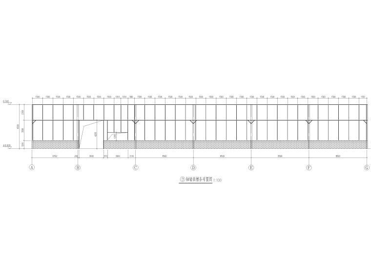 [肇东]单层门式刚架结构污水处理站结施2016-墙面檩条布置图
