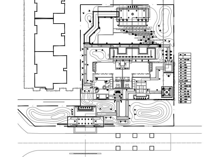 成都高端生态新中式居住区景观施工图cad-灯位布置平面图