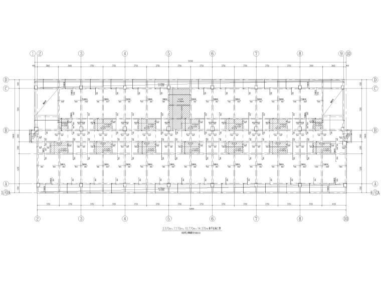 [荆门]5层框架结构员工宿舍楼全套图纸2017-板平法施工图