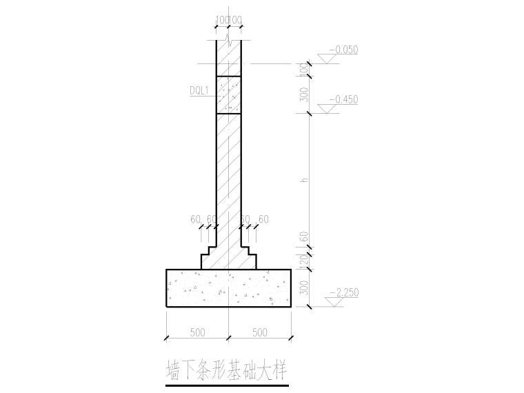 [肇东]单层门式刚架结构锅炉房结施图纸2016-墙下条形基础大样
