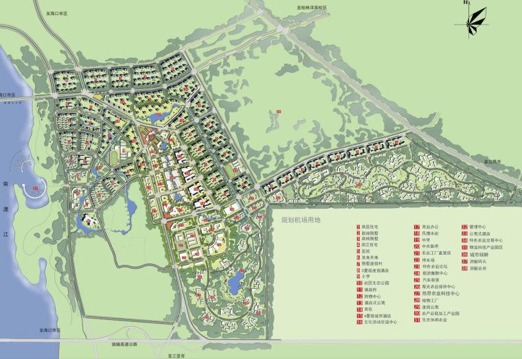 [海口]国际旅游文化风情小镇概念规划方案-总平面图