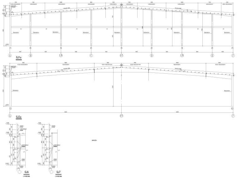 [莆田]单层钢框架结构产业园厂房结施2016-钢架详图