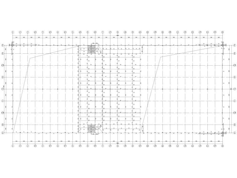 [莆田]单层钢框架结构产业园厂房结施2016-结构布置平面图