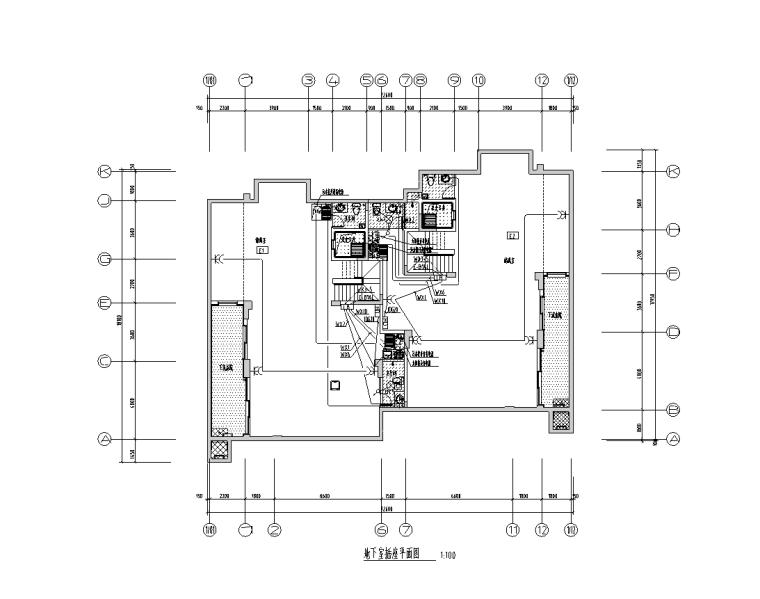 多层别墅强弱电电气施工图-地下室插座平面图