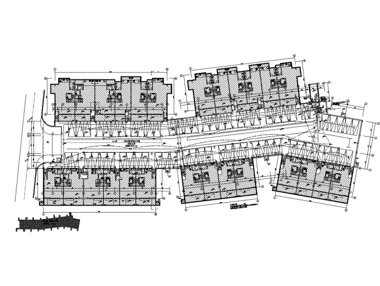 多层别墅强弱电电气施工图-照明平面图