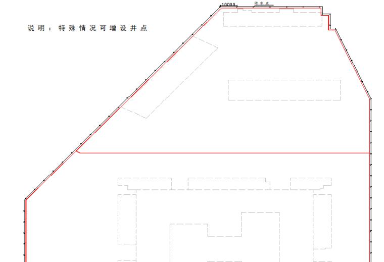 19层框剪结构宿舍楼降水井工程施工方案-02 降水点平面布置图