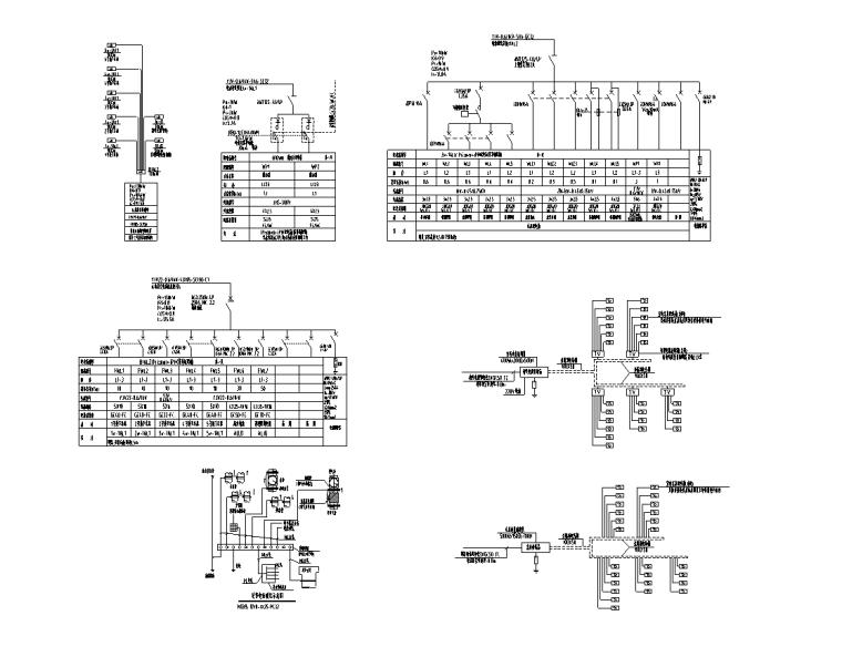 多层别墅强弱电电气施工图-配电箱系统图